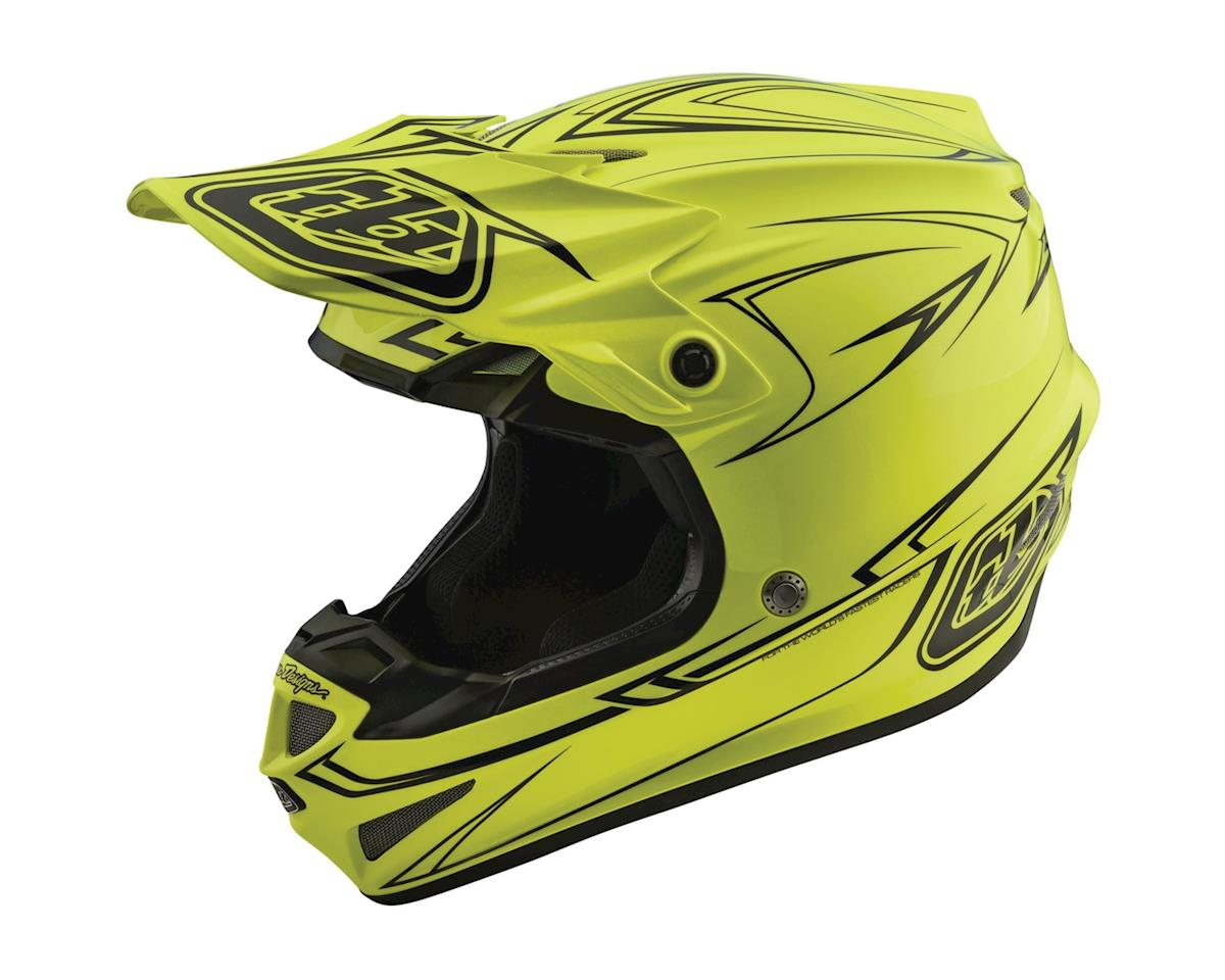 Troy Lee Designs 2018 Pinstripe MIPS Helmet (Flo Yellow)