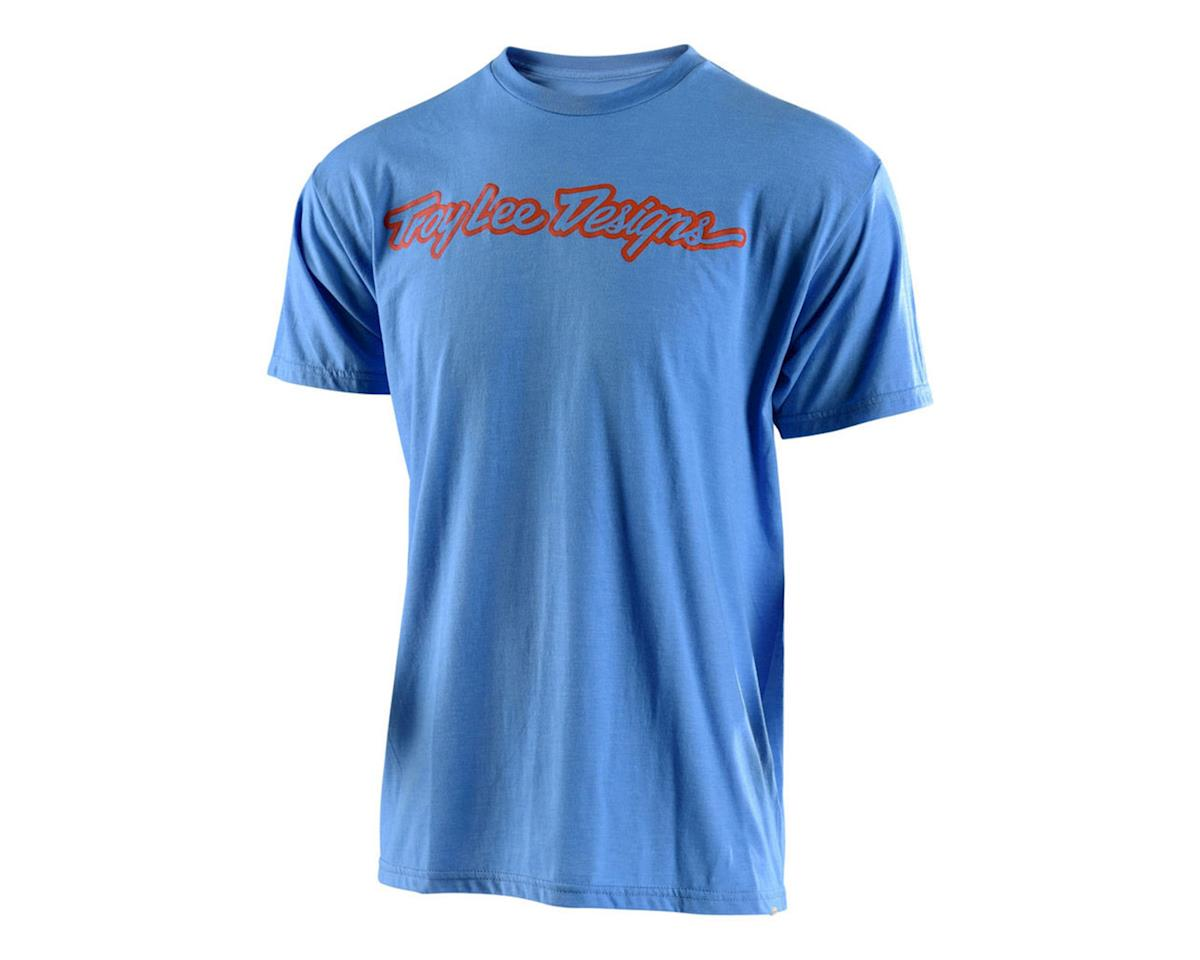 Troy Lee Designs Signature Tee (Light Blue Heather/Orange)
