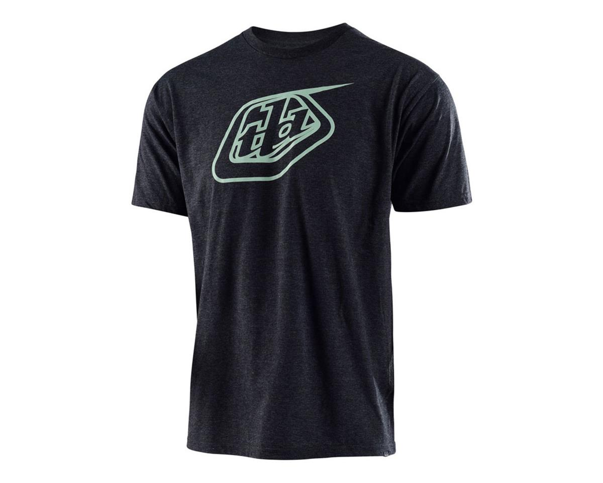 Troy Lee Designs Logo Tee (Charcoal Heather/Green) (S)