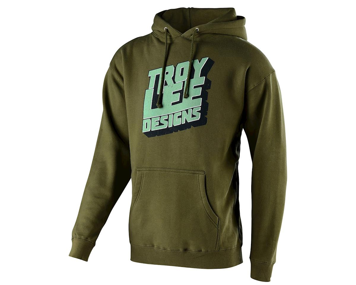Troy Lee Designs Block Party Pullover Hoodie (Army Green) (S)