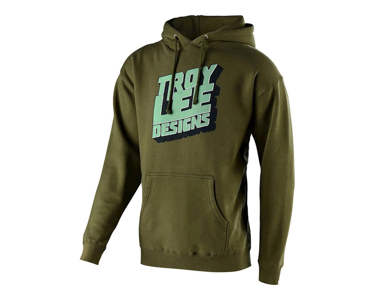 Troy Lee Designs Block Party Pullover Hoodie (Army Green) (L)