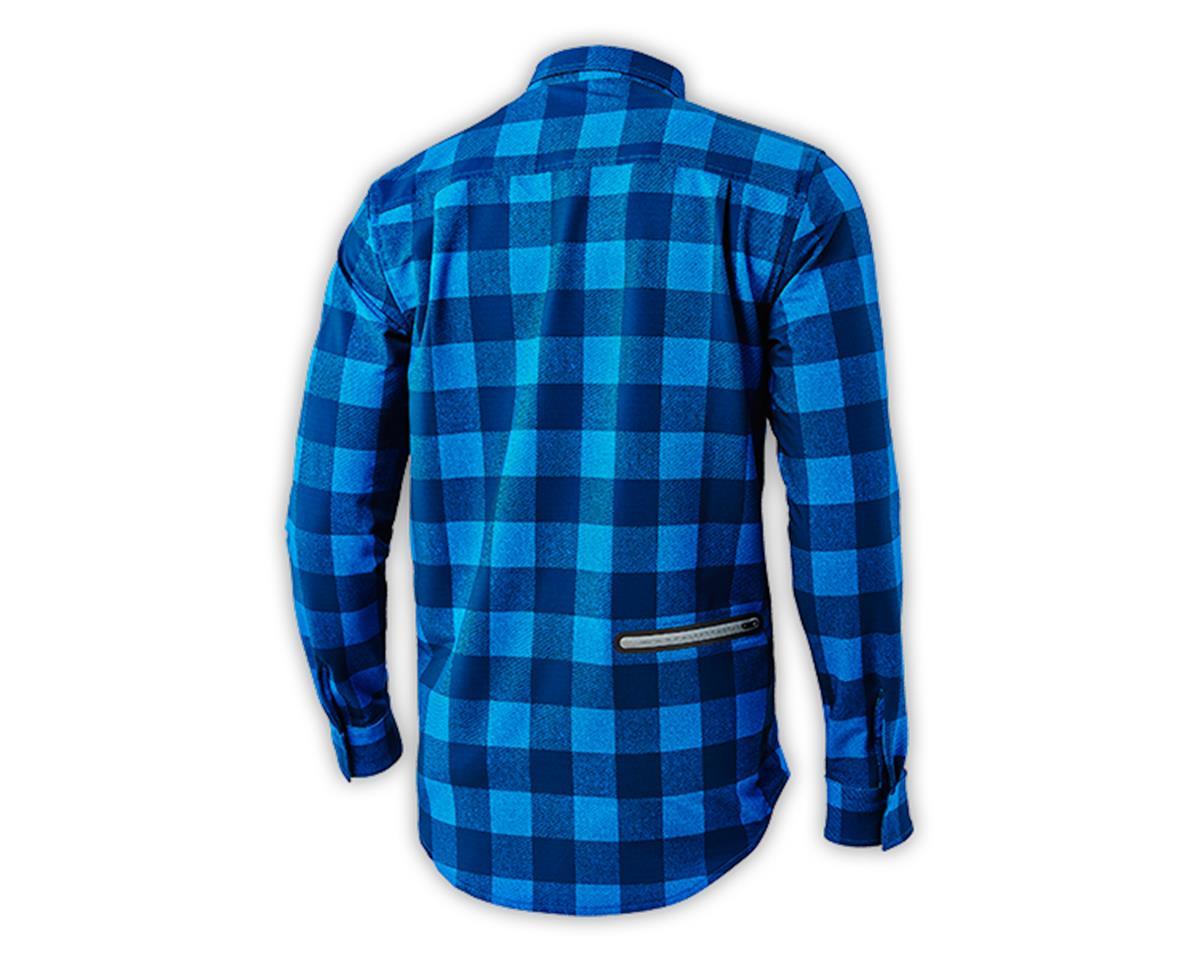 Troy Lee Designs Grind Flannel (Plaid Dirty Blue) (M)