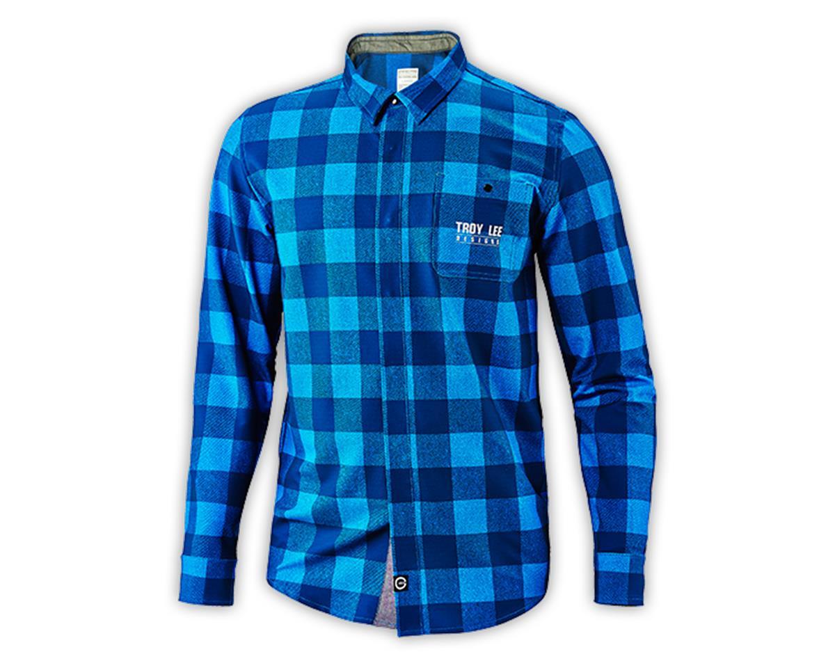 Troy Lee Designs Grind Flannel (Plaid Dirty Blue) (L)