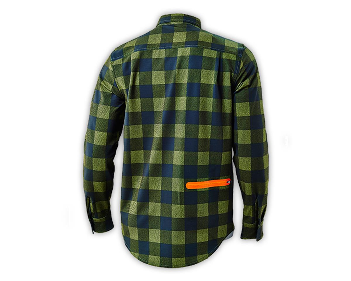 Troy Lee Designs Grind Flannel (Plaid Army Green) (S)