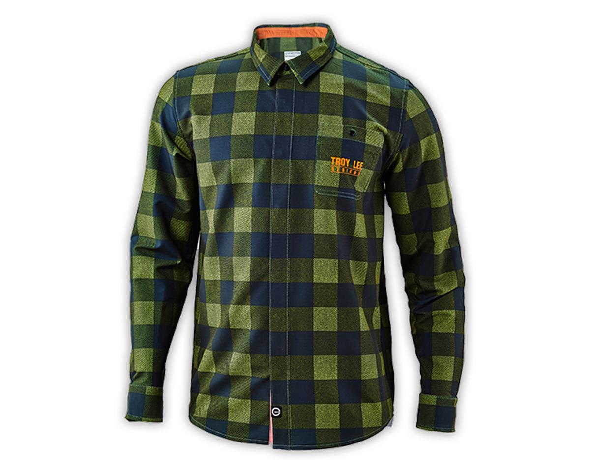 Troy Lee Designs Grind Flannel (Plaid Army Green) (XL)