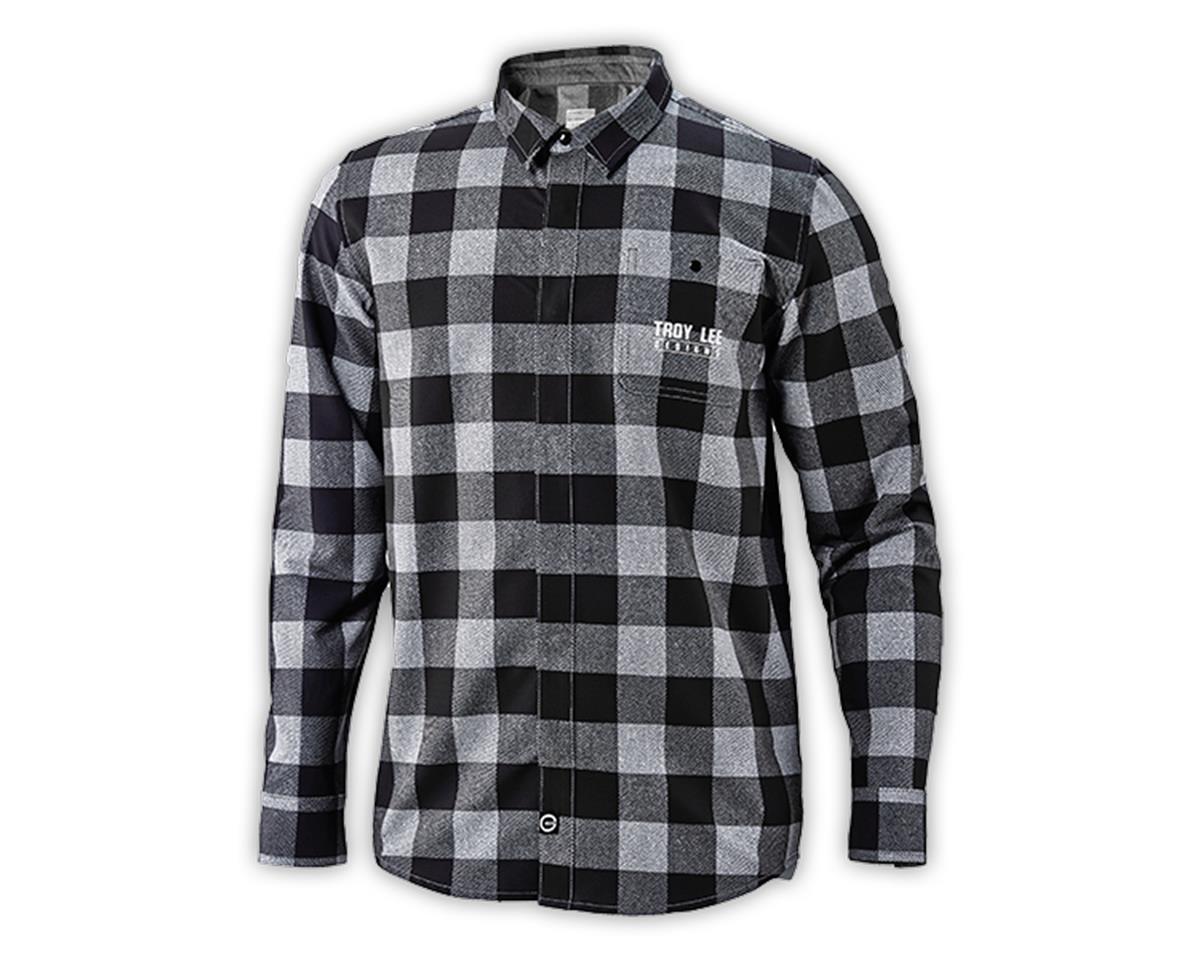 Troy Lee Designs Grind Flannel (Plaid Grey) (L)