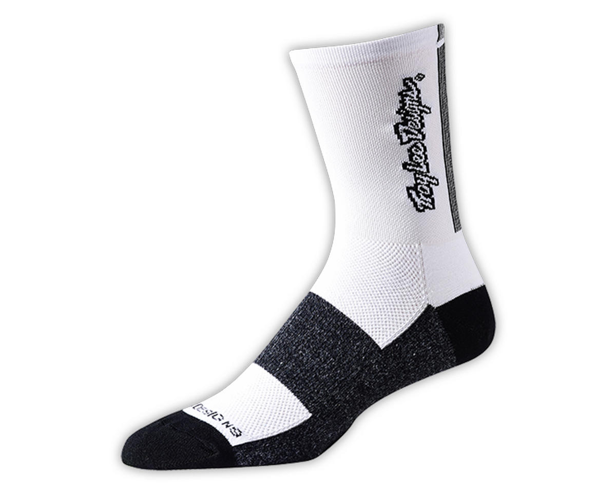 Troy Lee Designs Ace Performance Crew Sock (Classic White) (L)