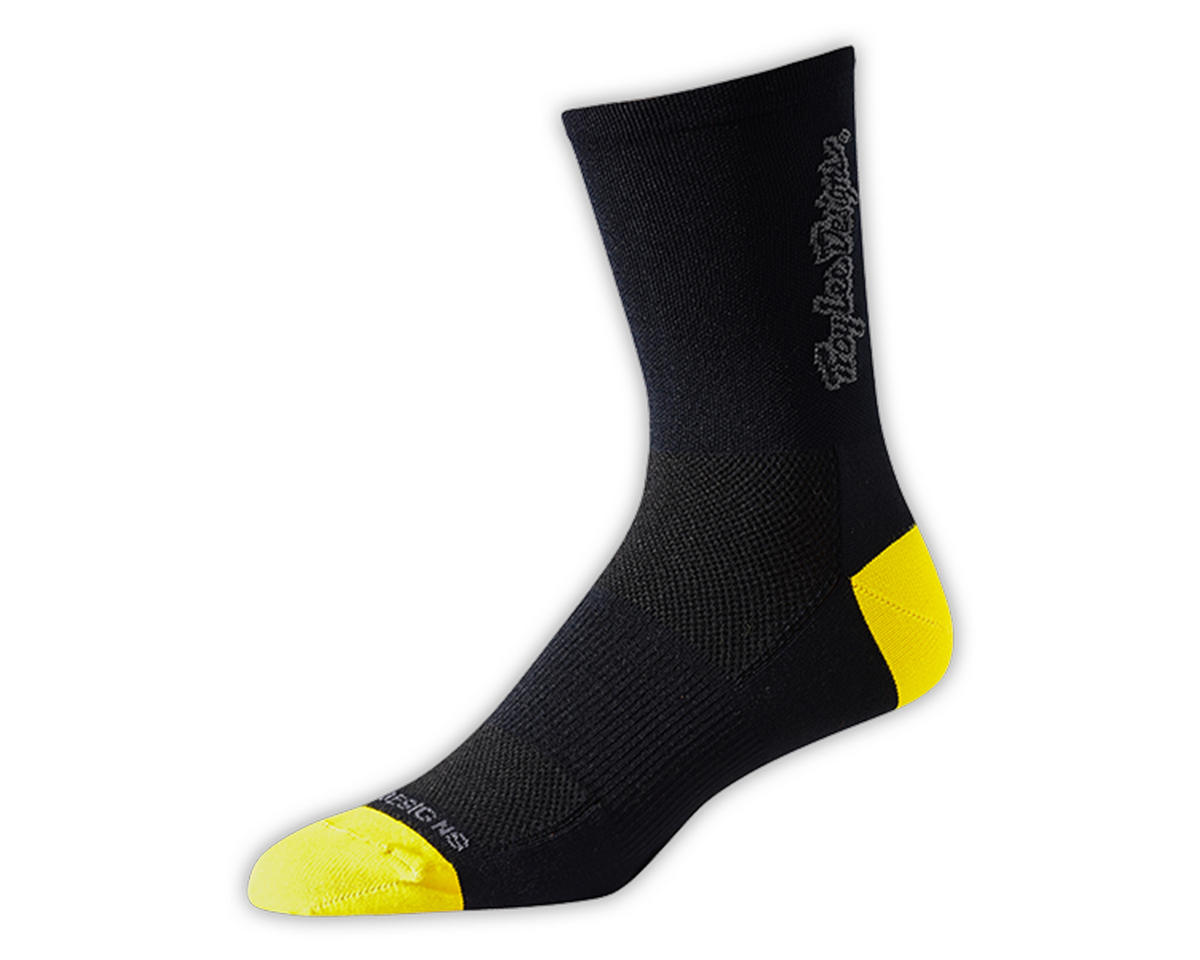 Troy Lee Designs Ace Performance Crew Sock (Classic Black) (L)