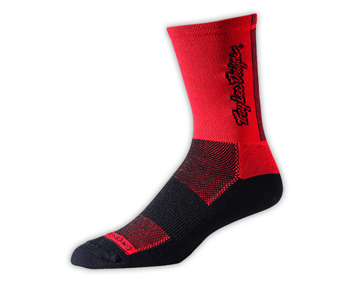 Troy Lee Designs Ace Performance Crew Sock (Classic Red) (M)