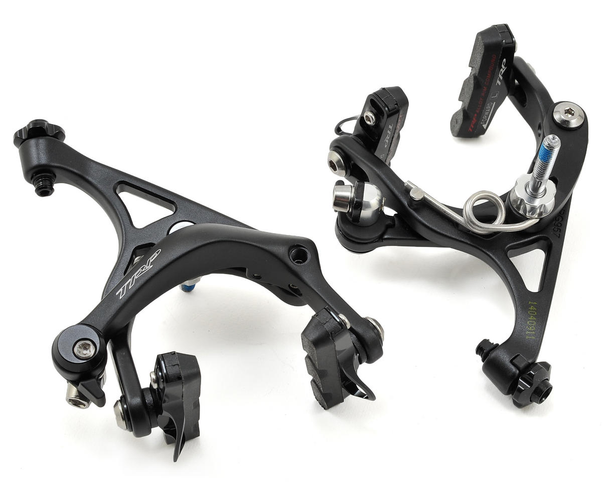 TRP RG957 Dual Pivot Long Reach Road Caliper Set (47-57mm Recessed Bolt) (Black)