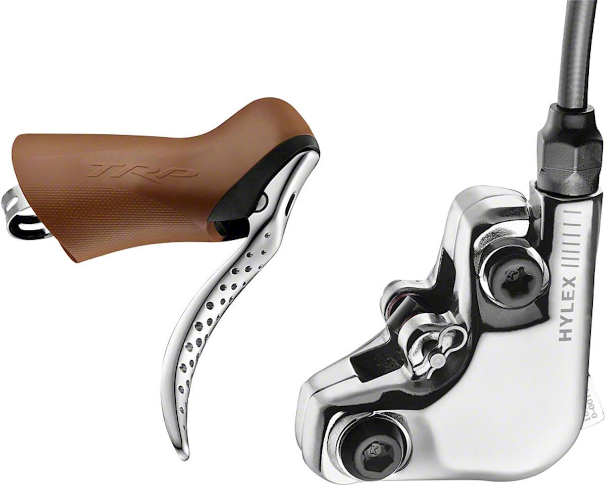 TRP Hylex RS Disc Brake and Lever - Rear, Hydraulic, Flat Mount, Silver
