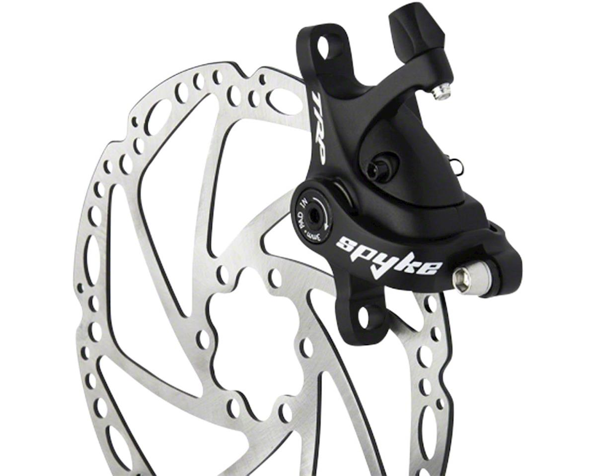 TRP Spyke Alloy Mechanical Disc Brake Caliper includes 180mm Rotor, Black
