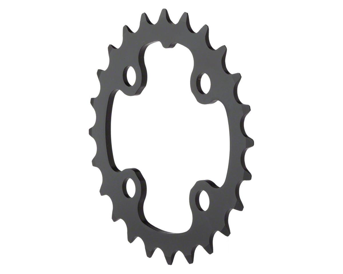 Truvativ Trushift Aluminum 2x Chainring (Black) (64mm BCD) (24T)