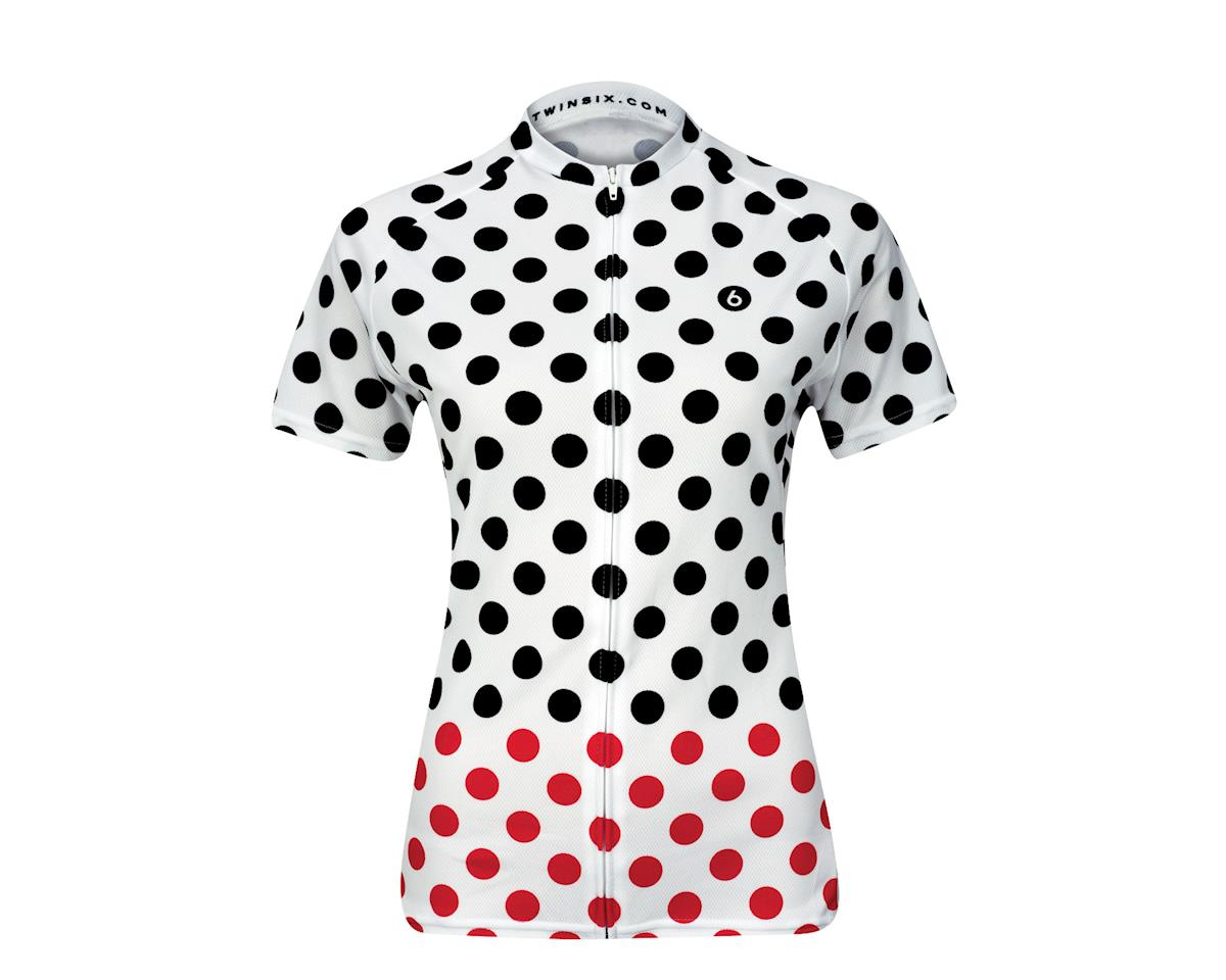 Twin Six Women's Queen of the Mountain Short Sleeve Jersey (Red/White/Black) (Xsmall)
