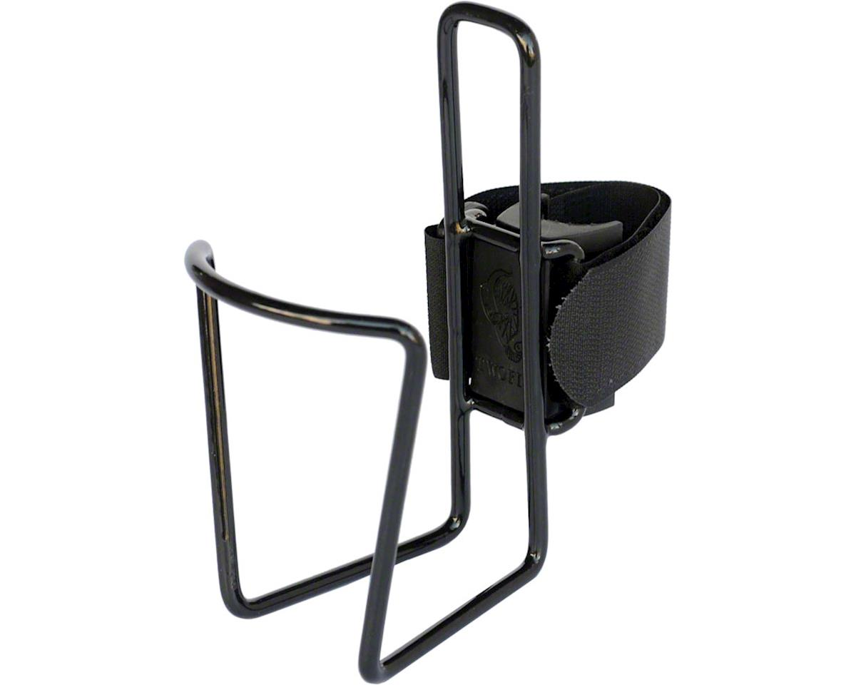 QuickCage 24oz Water Bottle Cage: Vinyl Coated Black, No Bottle Included