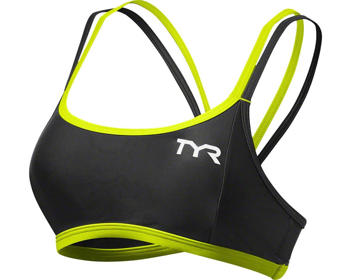 Tyr Competitor Thin Strap Women's Bra (Black/Lime)
