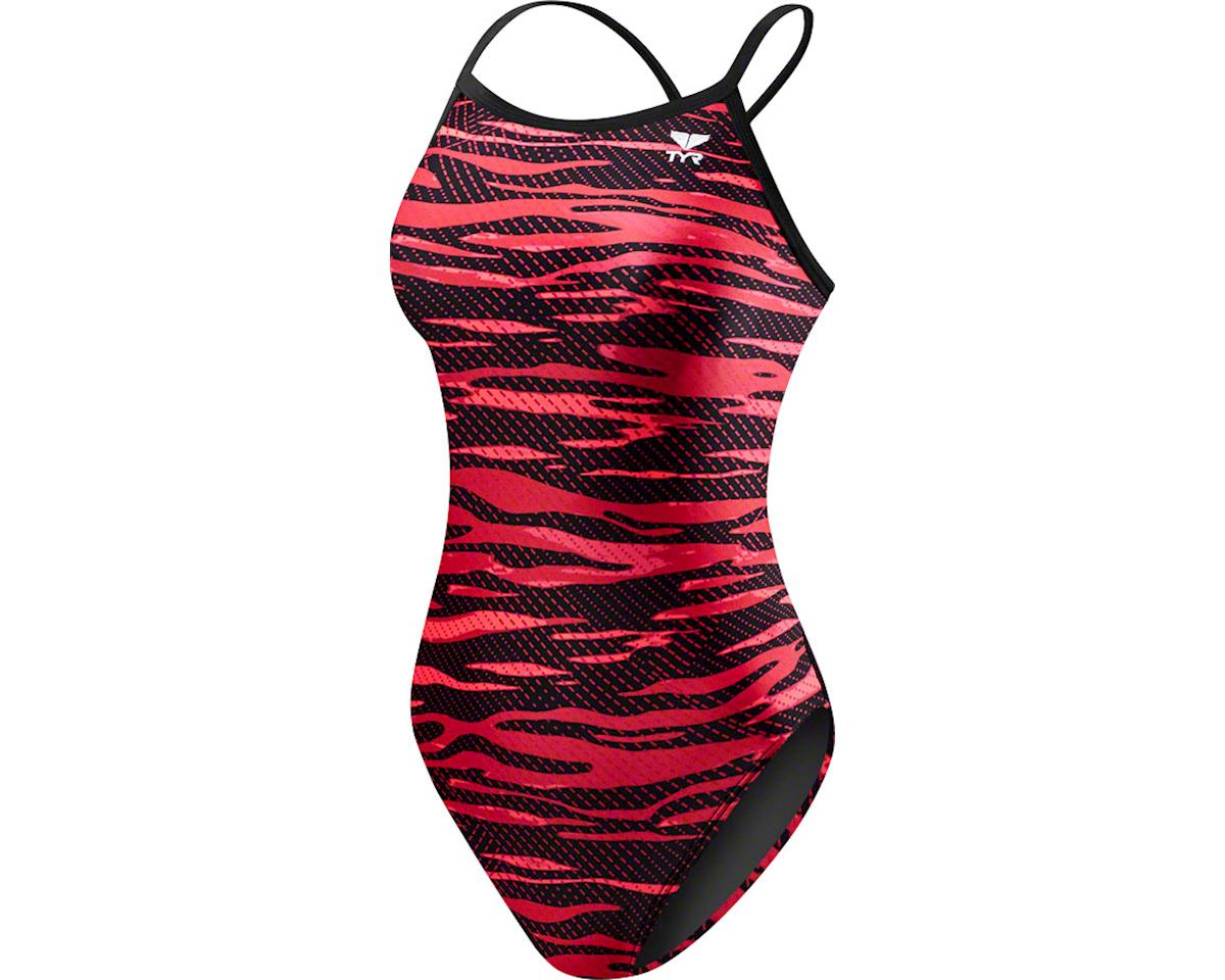 Crypsis Diamondfit Women's Swimsuit: Red 34