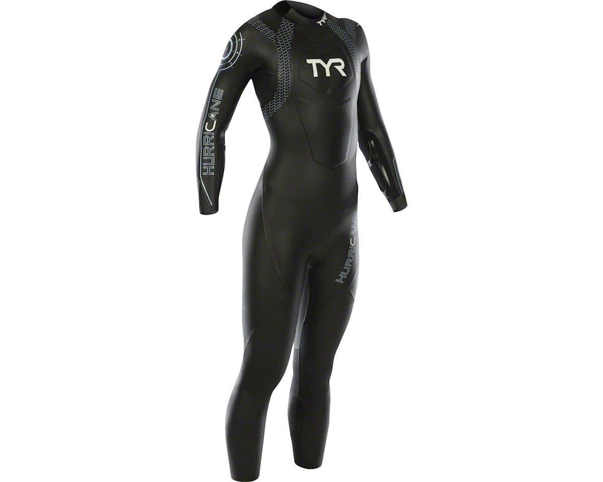 TYR Women's Hurricane Cat 2 Wetsuit: Black/Gray LG