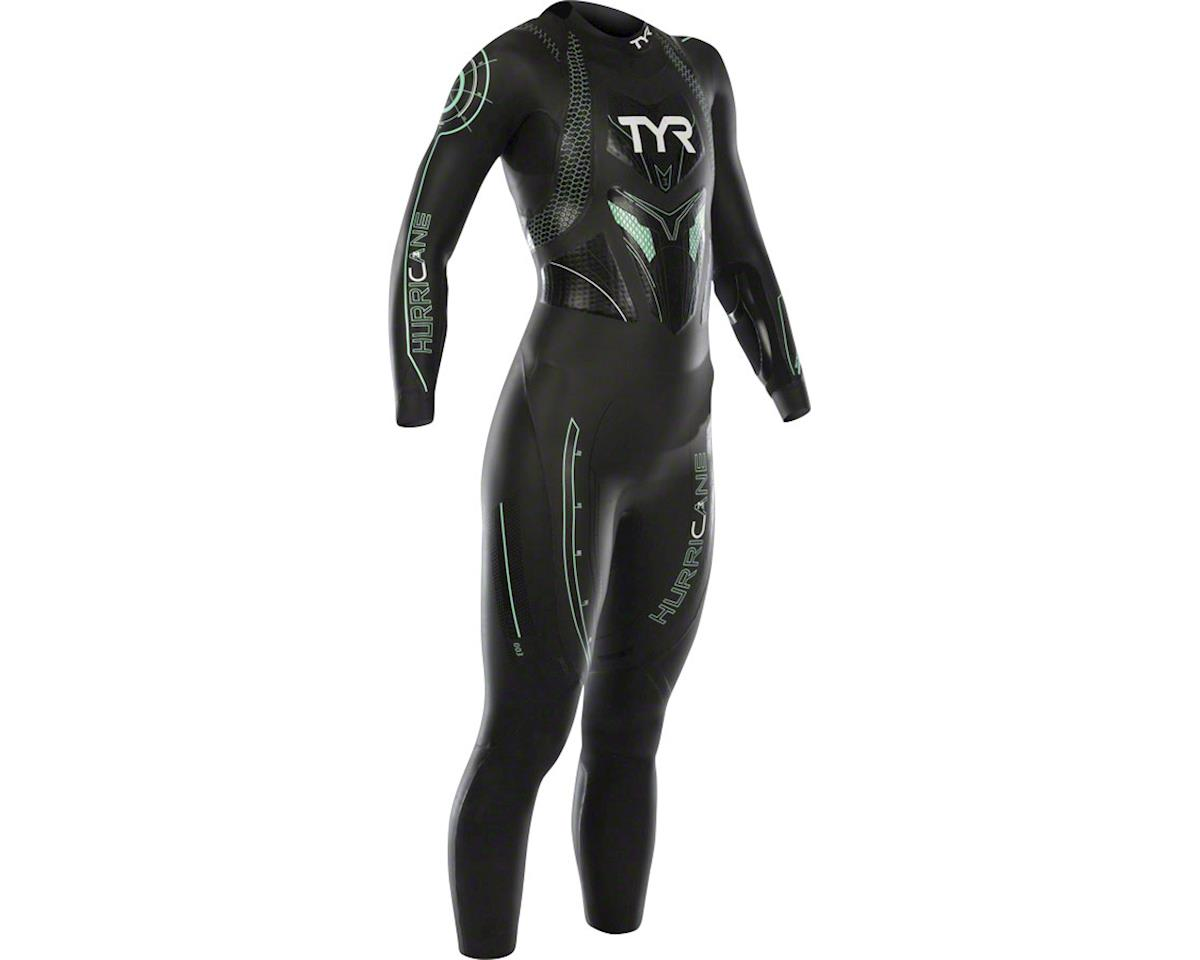 TYR Women's Hurricane Cat 3 Wetsuit: Black/Seafoam LG
