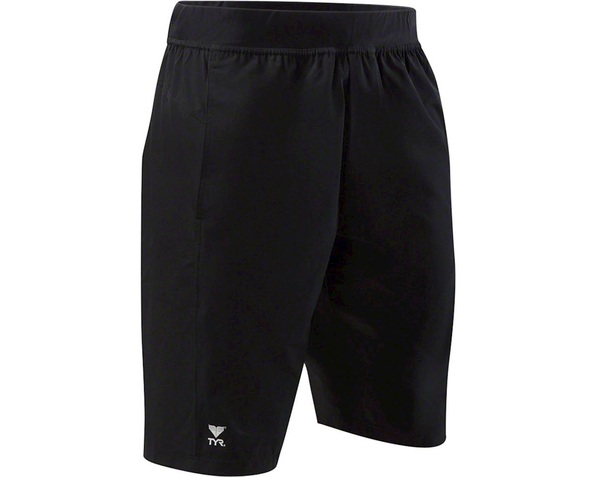 Tyr Challenger Men's Boardshort with Liner: Black, XL
