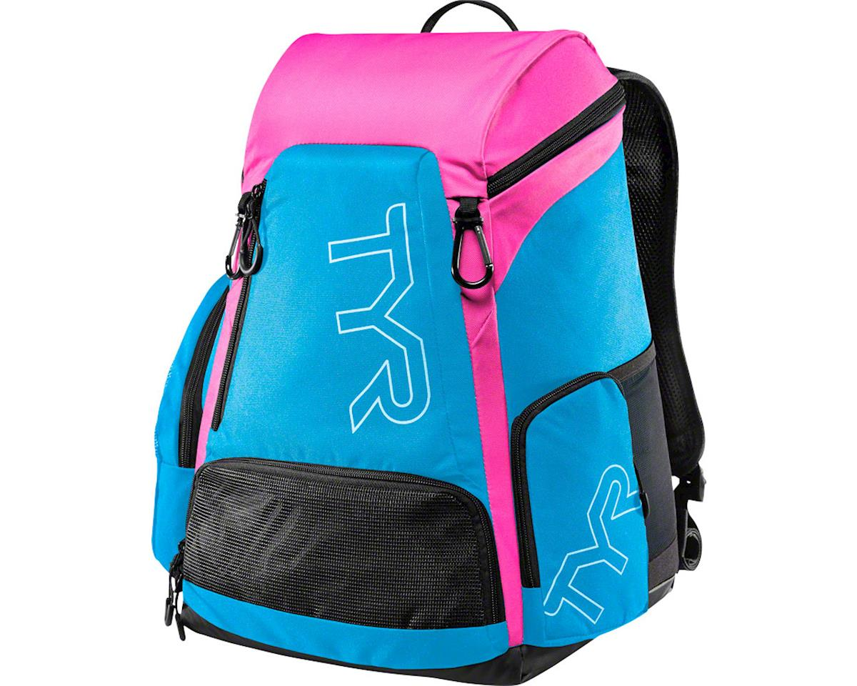 TYR Alliance 30L Backpack: Blue/Pink