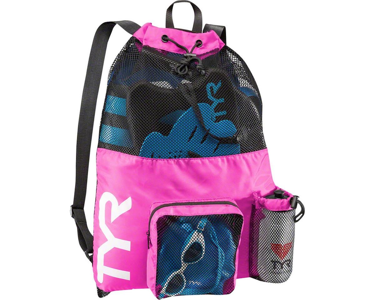 TYR Big Mesh Mummy Backpack: Pink