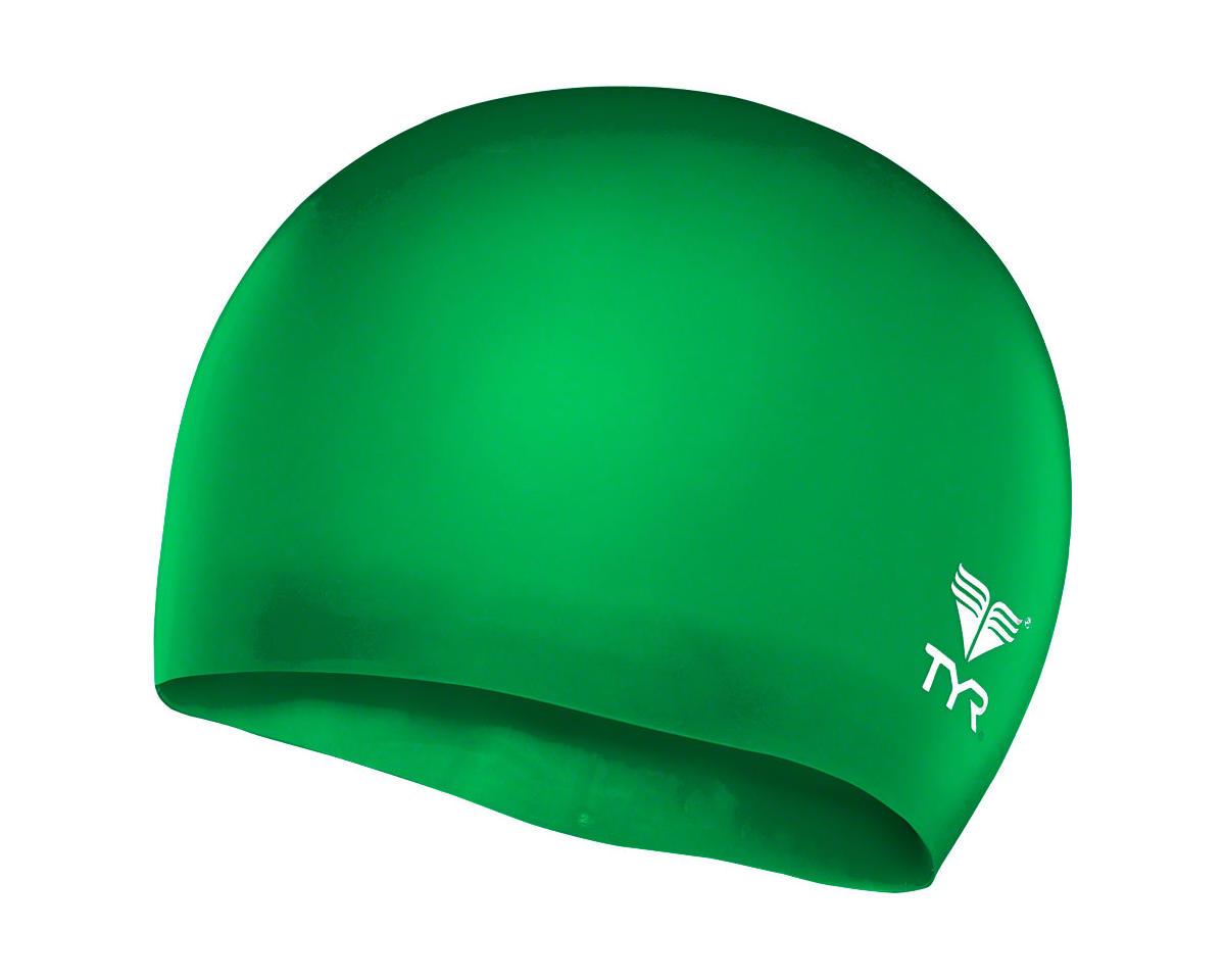 Wrinkle-Free Silicon Junior Swim Cap: Apple Green