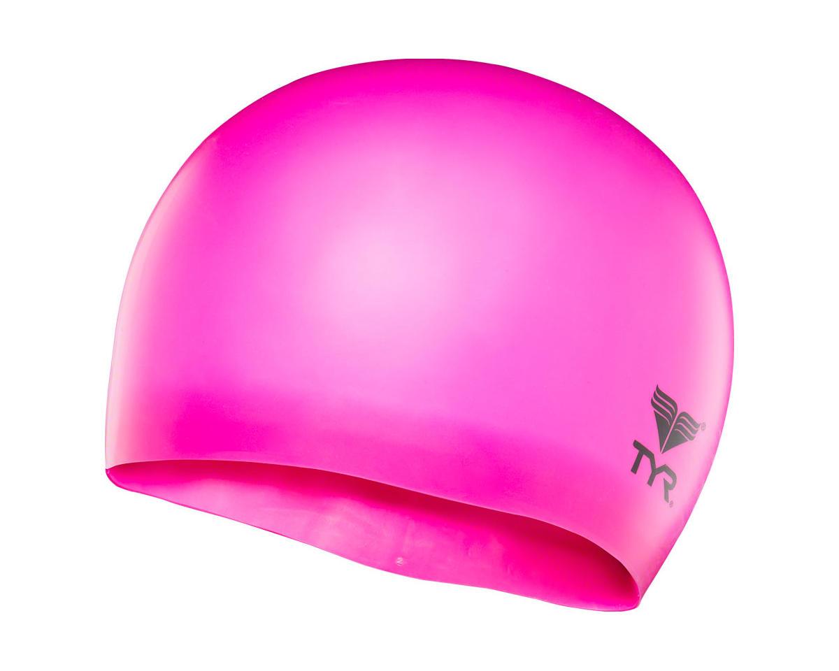 Wrinkle-Free Silicon Junior Swim Cap: Fluorescent Pink