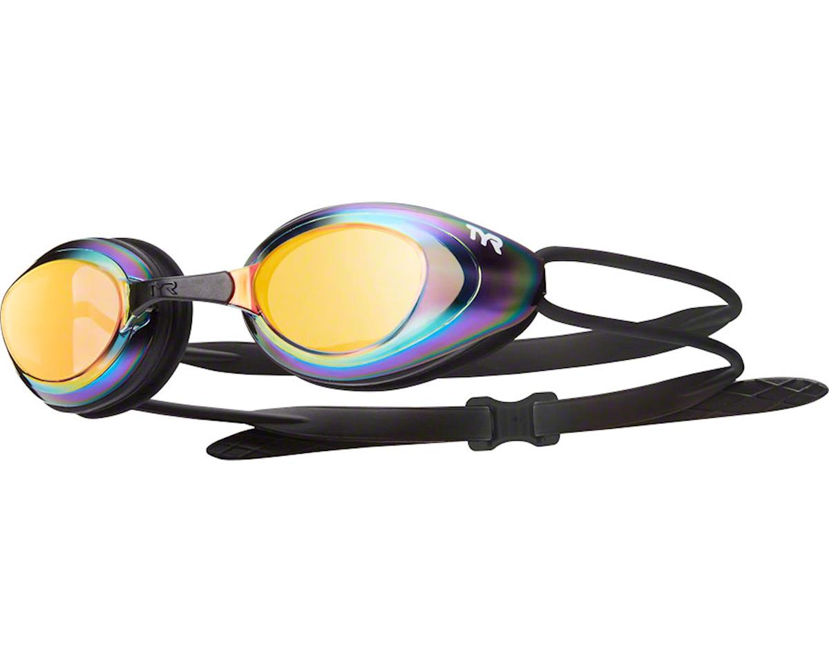 Tyr Blackhawk Mirrored Goggle: Black Frame/Metal-Rainbow Lens