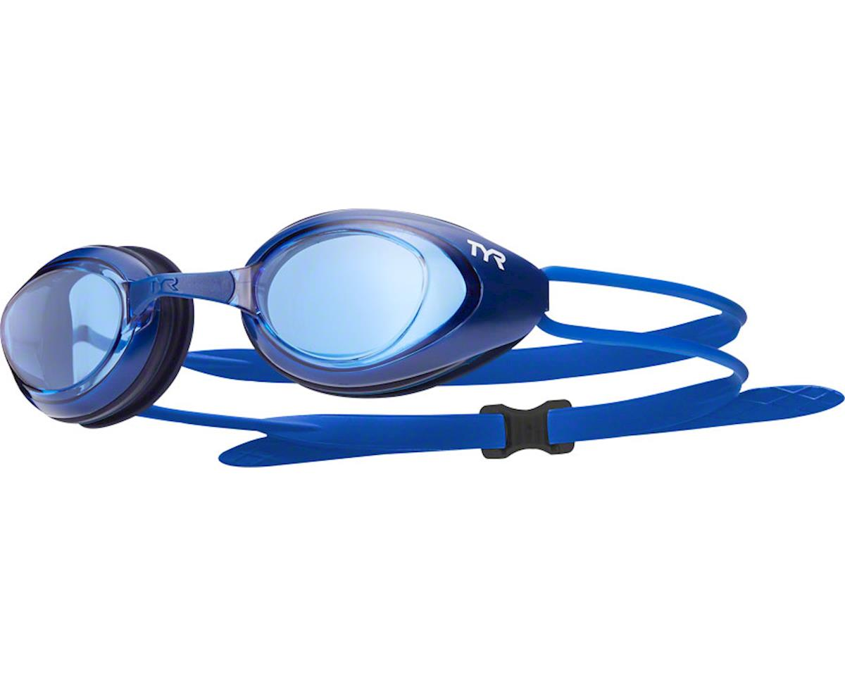 Tyr Blackhawk Goggle: Navy Frame/Black Gasket/Blue Lens