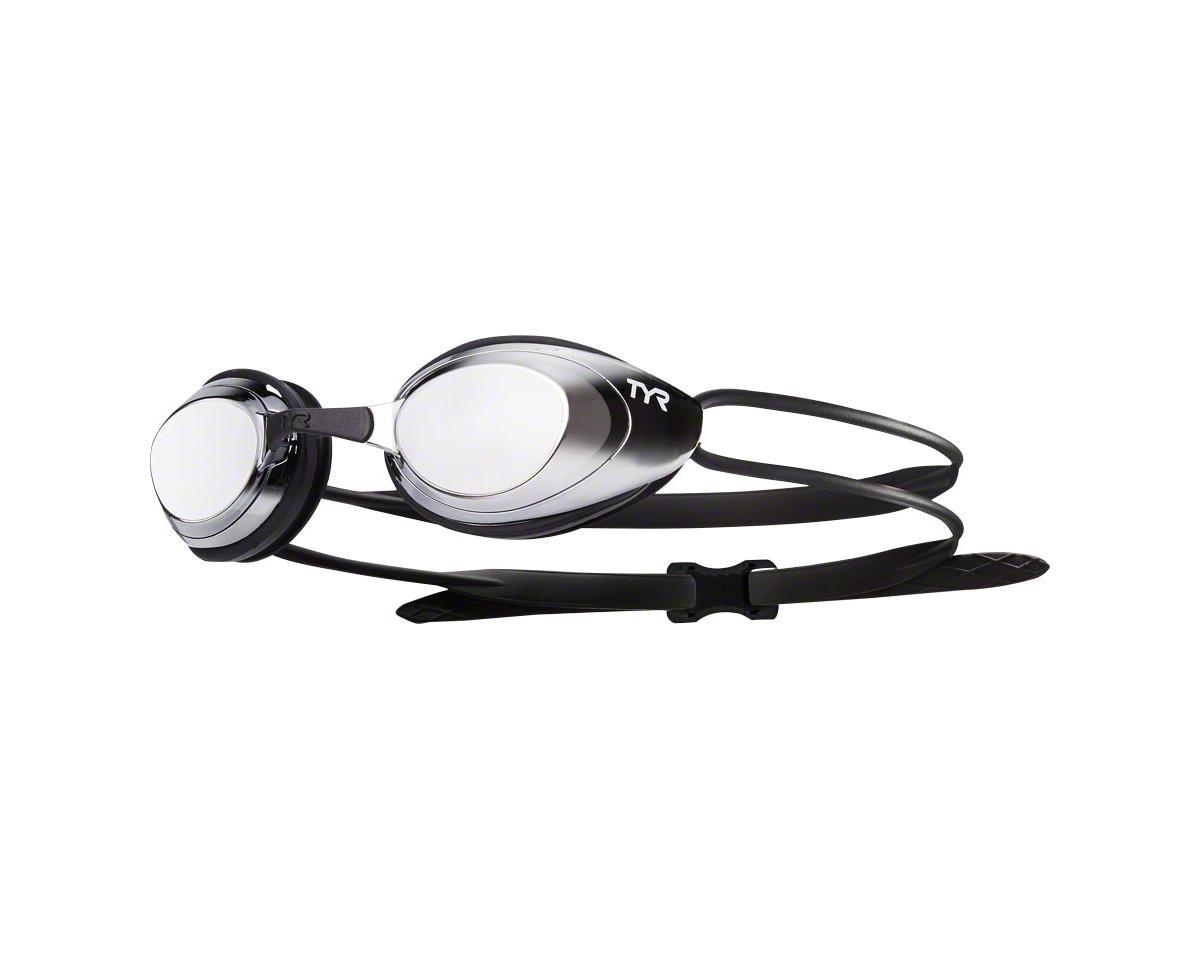 Tyr Blackhawk Mirrored Femme Goggle: Silver Lens/Silver Frame/Black Gasket