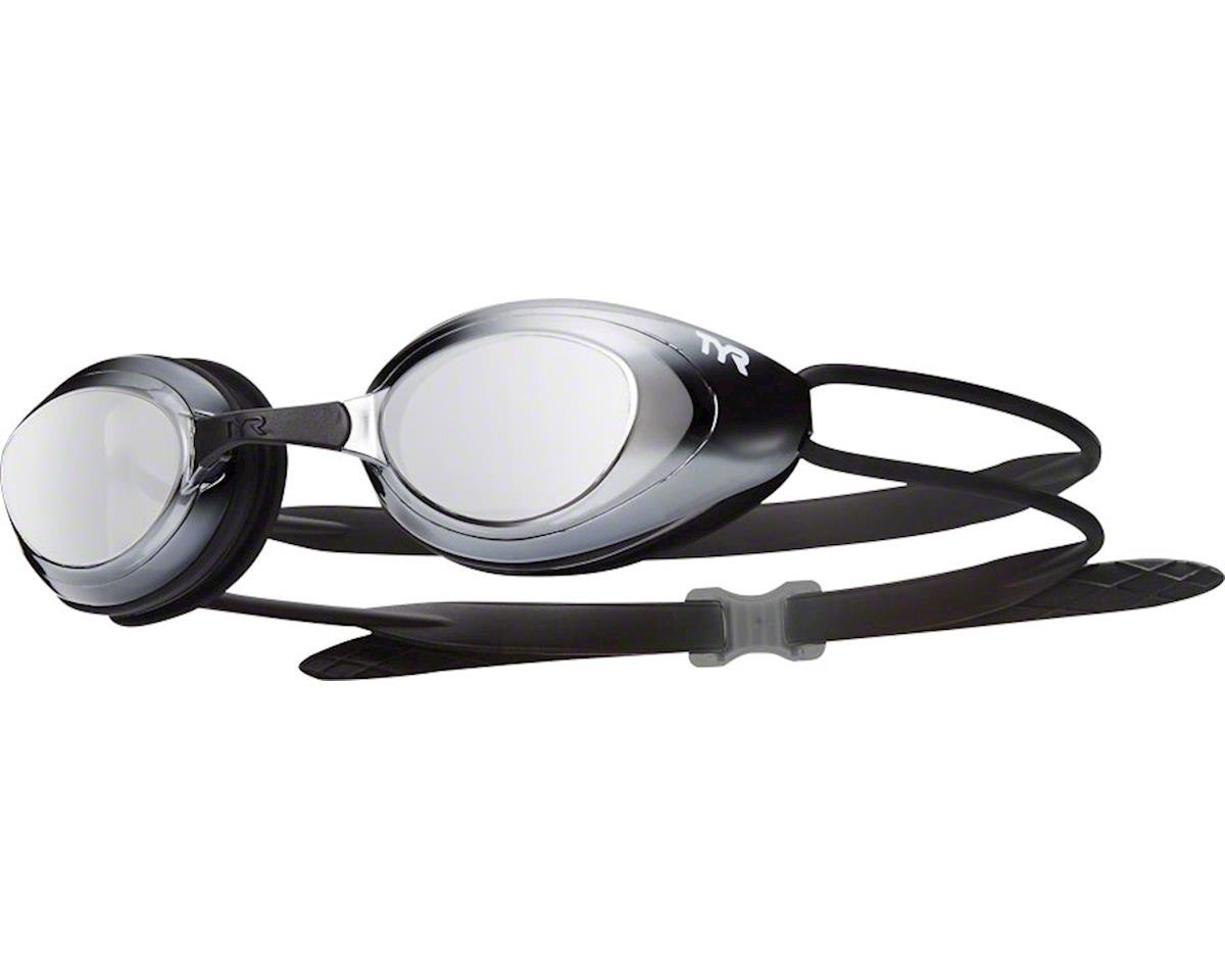 Tyr Blackhawk Mirrored Goggle: Silver Frame/Black Gasket/Metallized Silver Lens