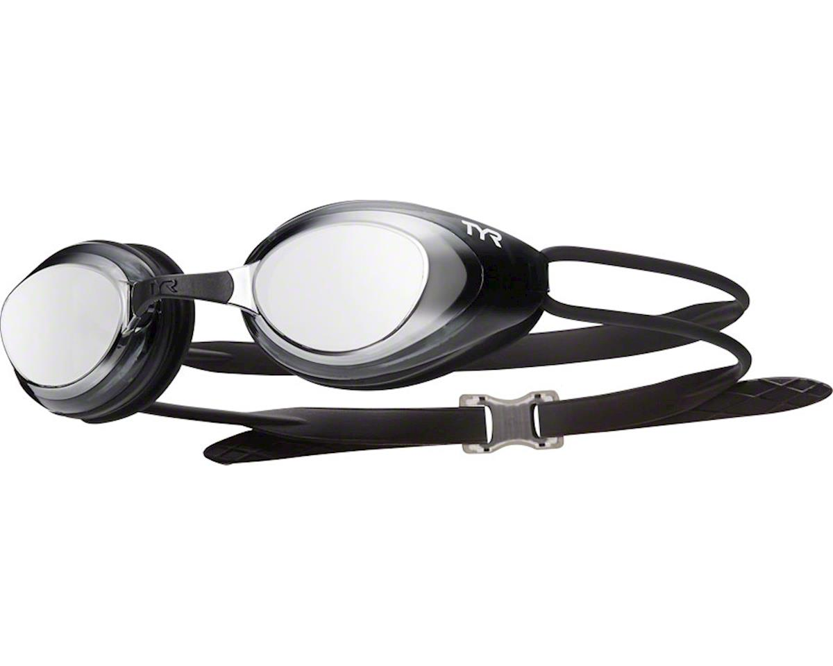 Tyr Blackhawk Polarized Goggle: Silver/Smoke/Black