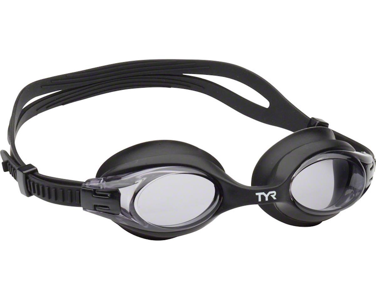 Tyr Big Swimple Goggle: Black Frame/Smoke Lens