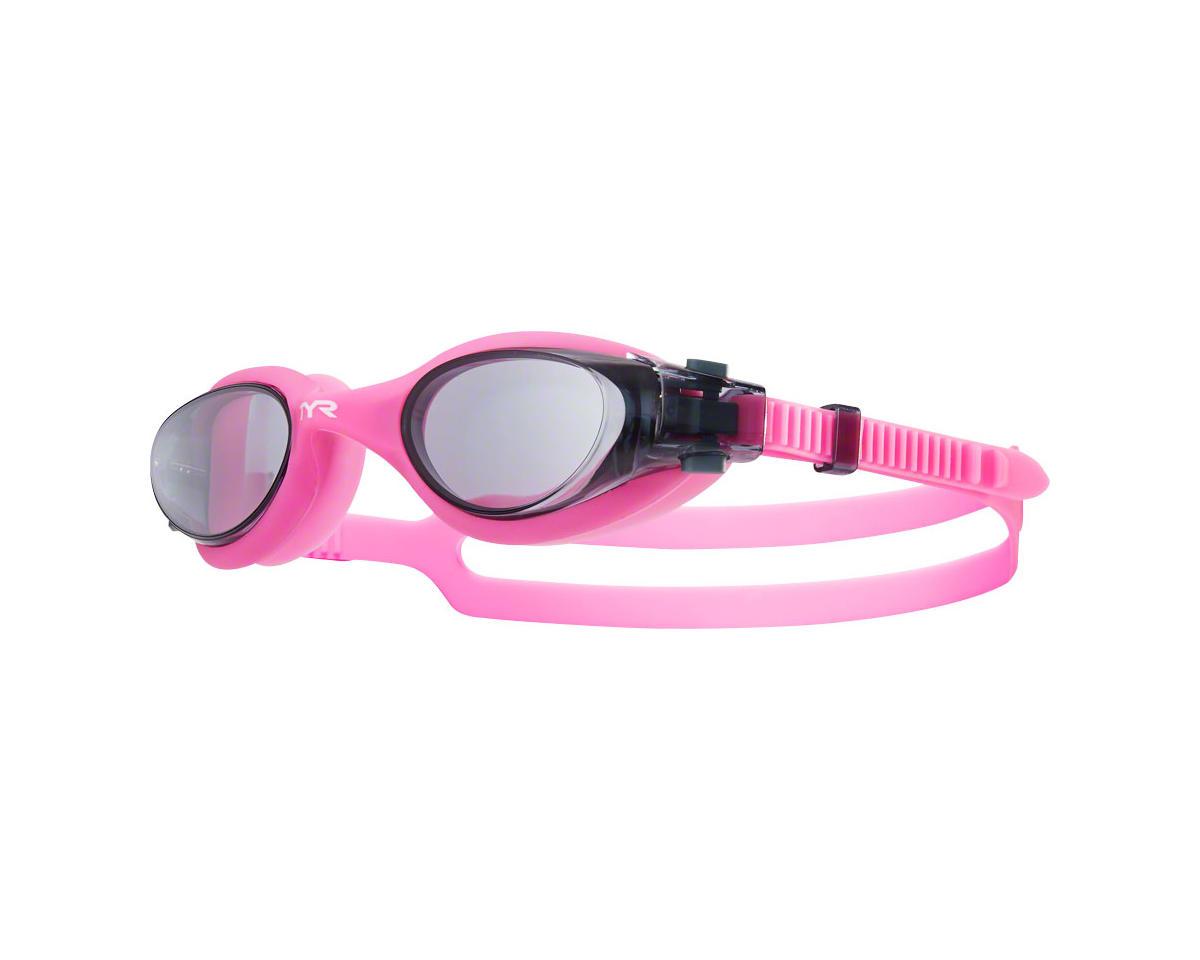 Tyr Vesi Femme Goggle: Smoke Lens/Pink Frame/Pink Gasket