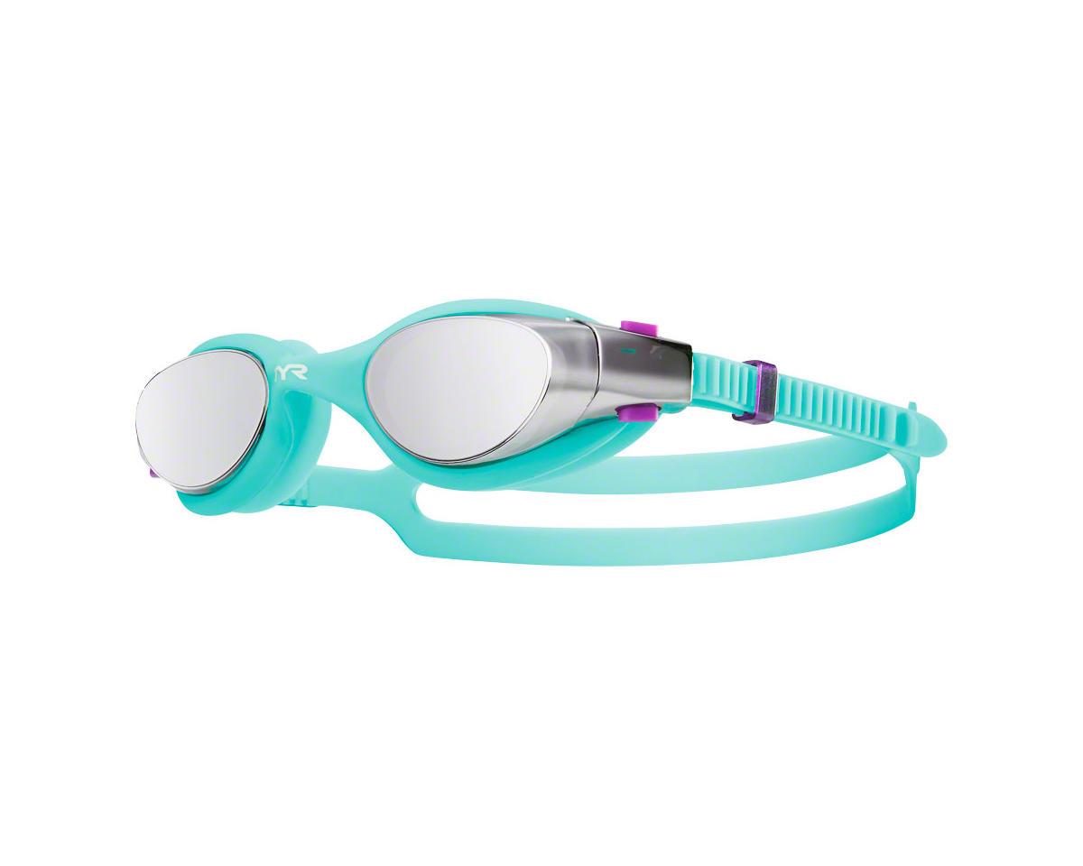 Tyr Vesi Mirrored Femme Goggle: Silver Lens/Mint Frame/Mint Gasket