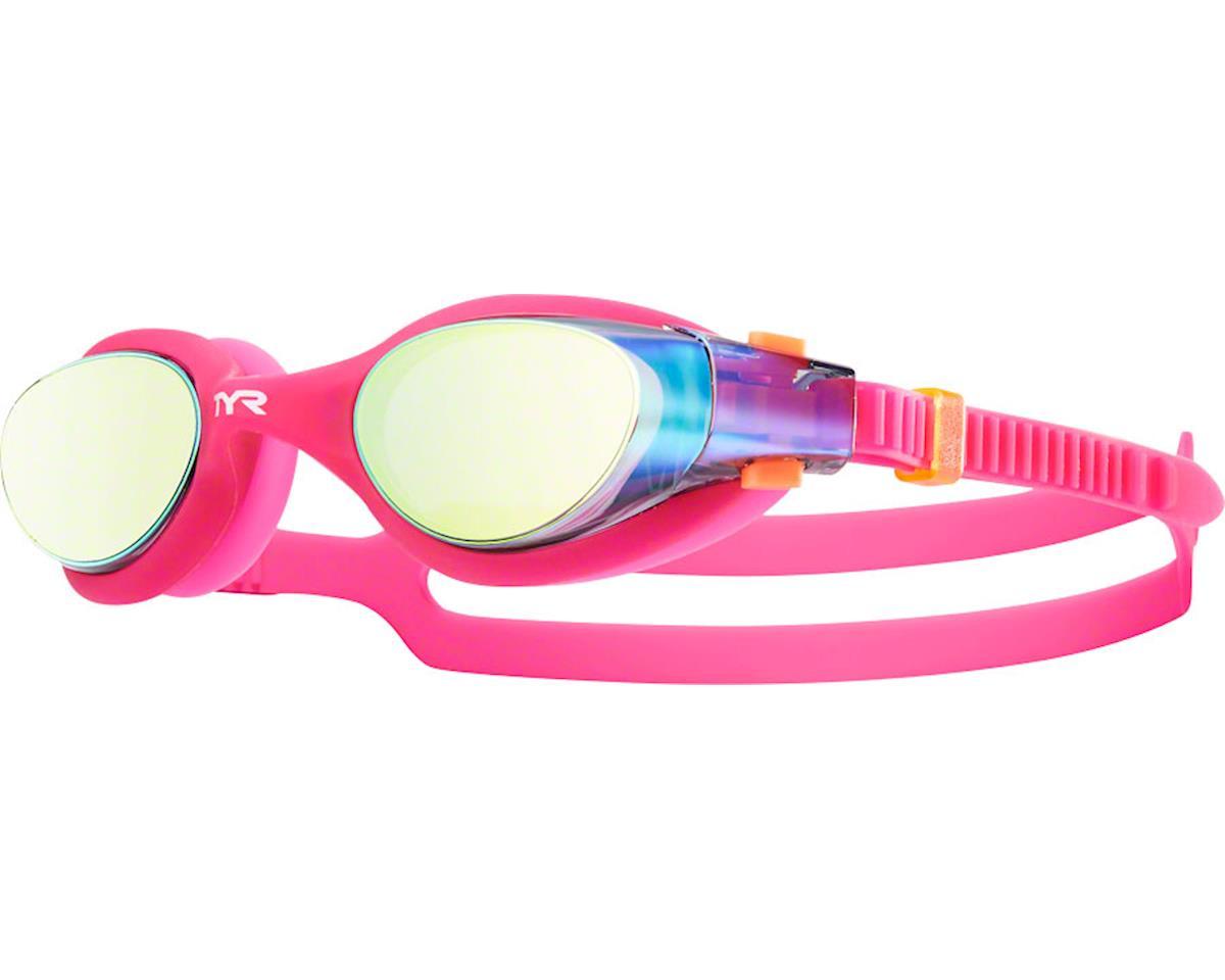 Tyr Vesi Mirrored Femme Goggle: Gold Lens/Pink Frame/Pink Gasket