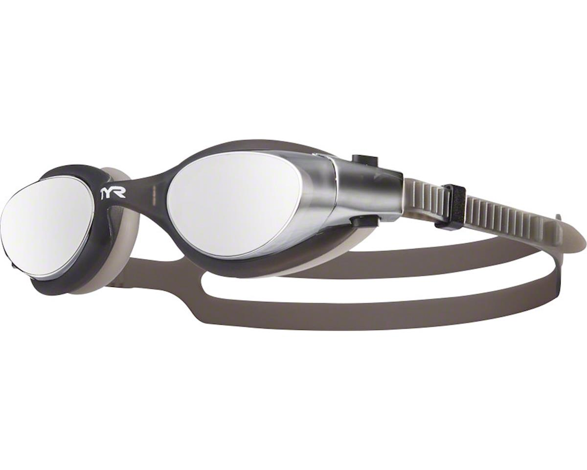 Tyr Vesi Mirrored Goggle: Silver Lens/Black Frame/Black Gasket