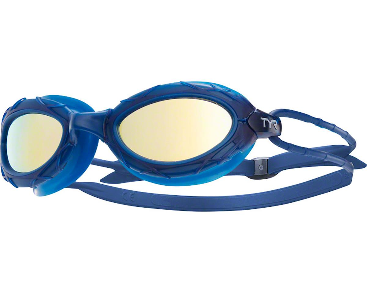 Tyr Nest Pro Mirrored Goggles: Navy Frame/Gold Lens