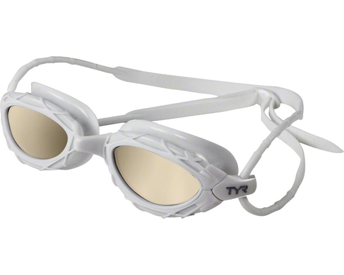 Tyr Nest Pro Nano Mirrored Goggle: White Frame/Metallized White