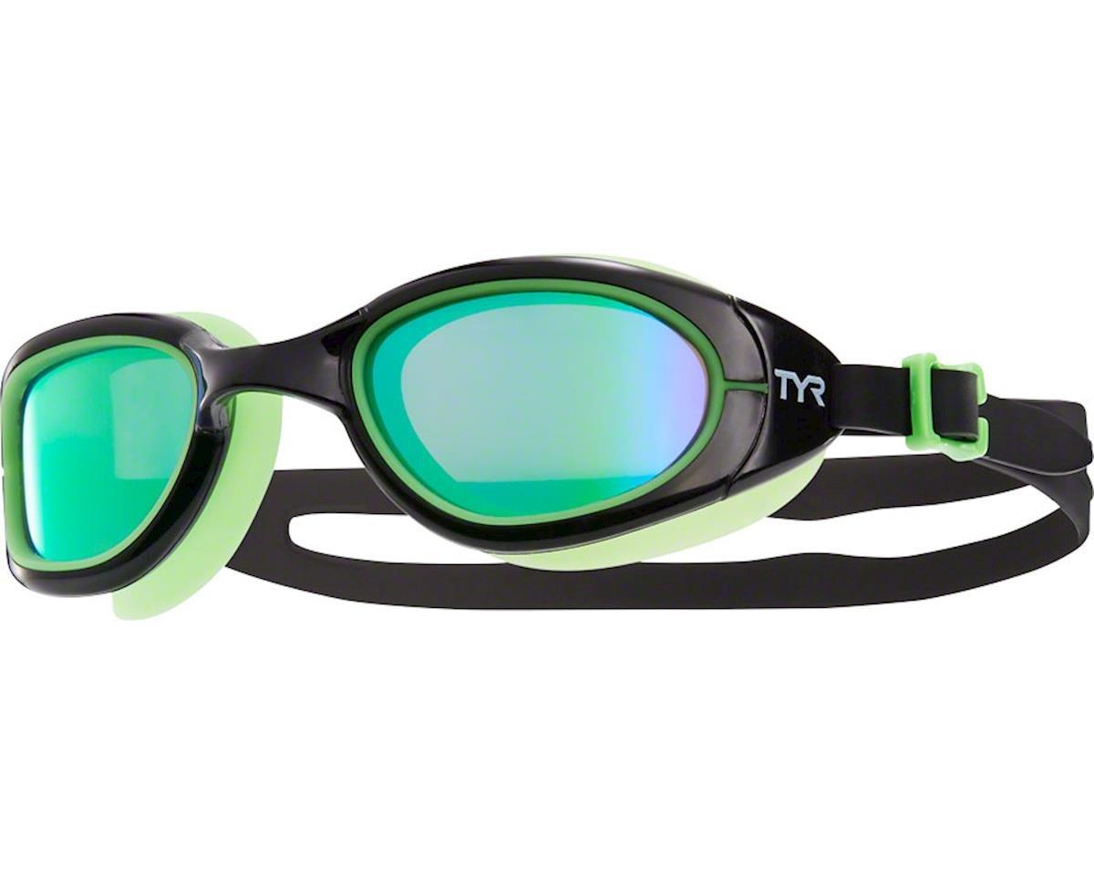 Tyr Special Ops 2.0 Polarized Goggle: Black Frame/Green Gasket/Green Lens