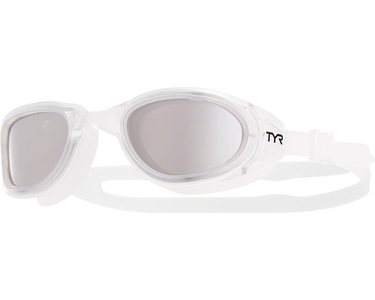 Tyr Special Ops 2.0 Polarized Goggle: Clear Frame/Silver Lens