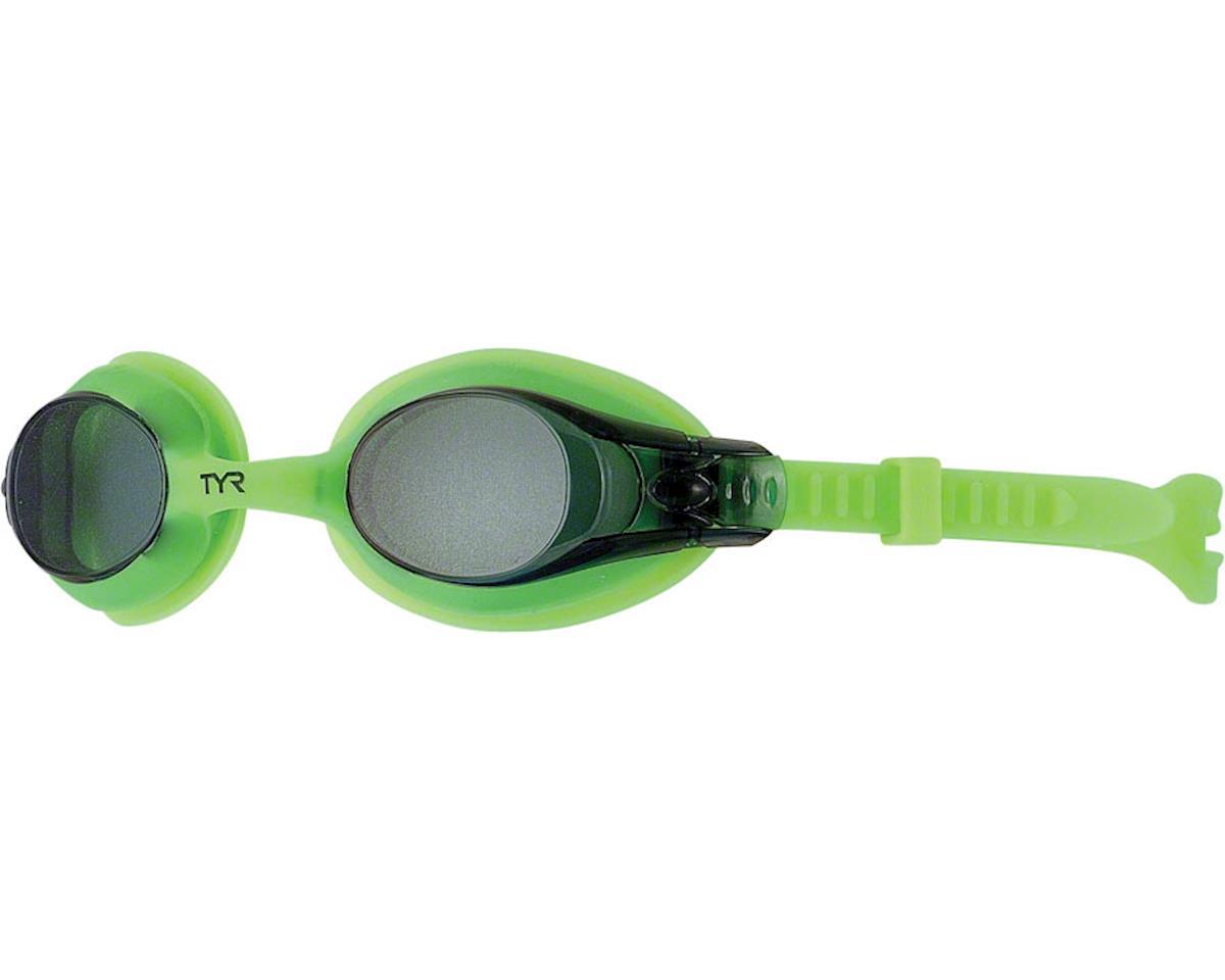 TYR Swimple Kids Goggle: Green Gasket/Smoke Lens