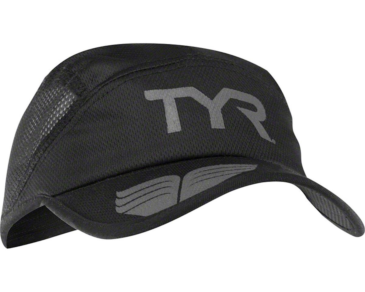 a47a4aba5cba15 TYR Competitor Running Cap: Black/Gray One Size [LRUNCAP-088 ...