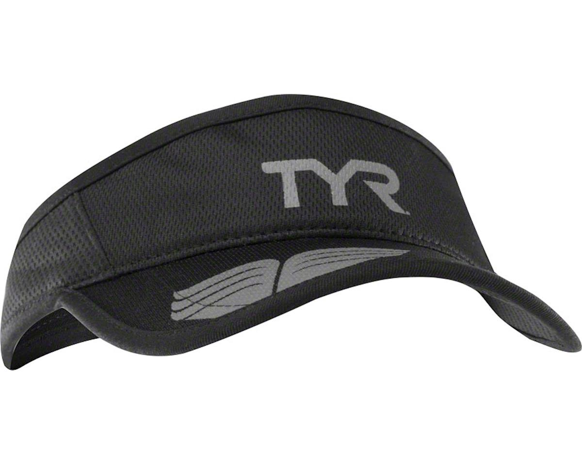 Tyr Competitor Running Visor (Black/Gray) (One Size)