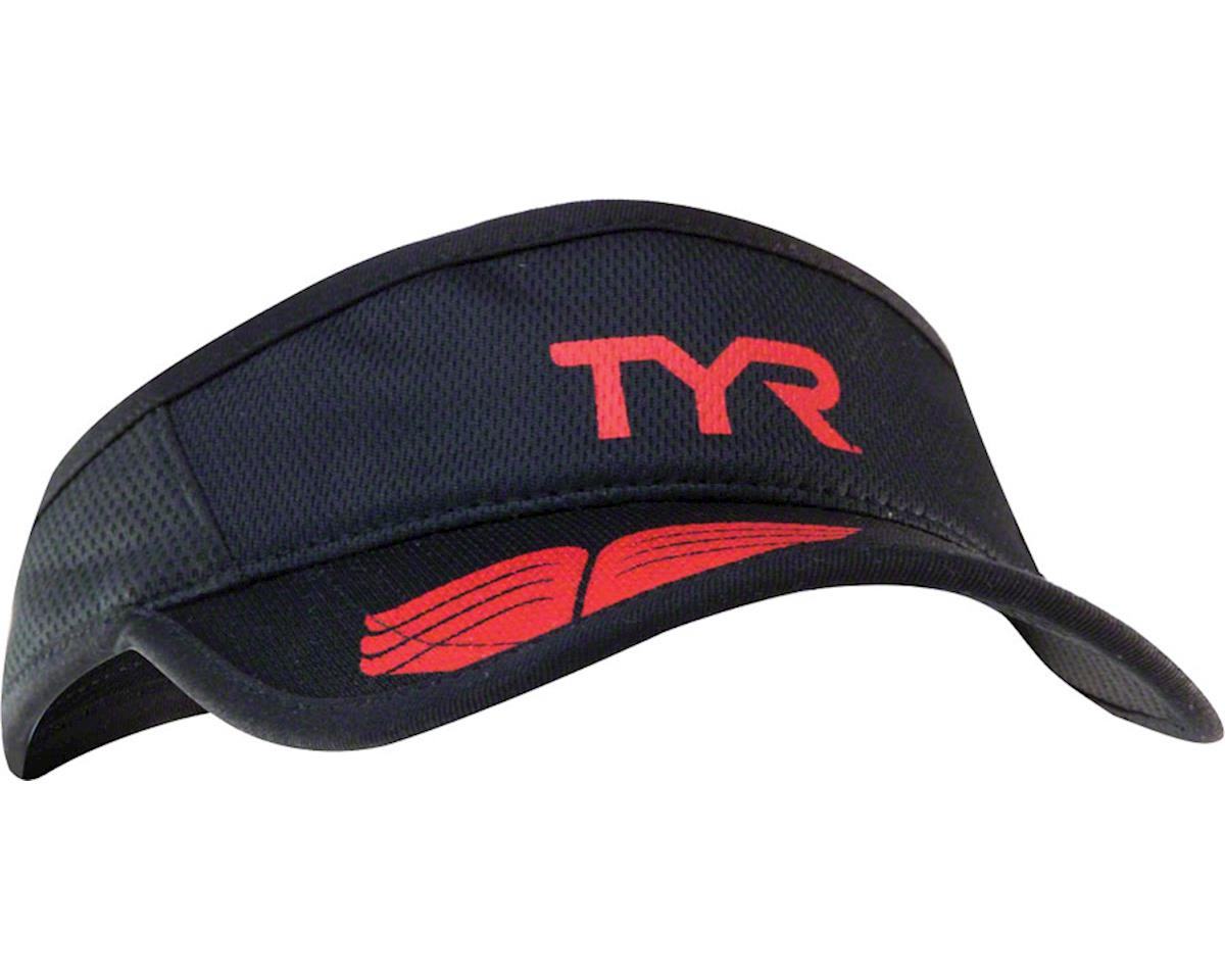 Tyr Competitor Running Visor (Black/Red) (One Size)