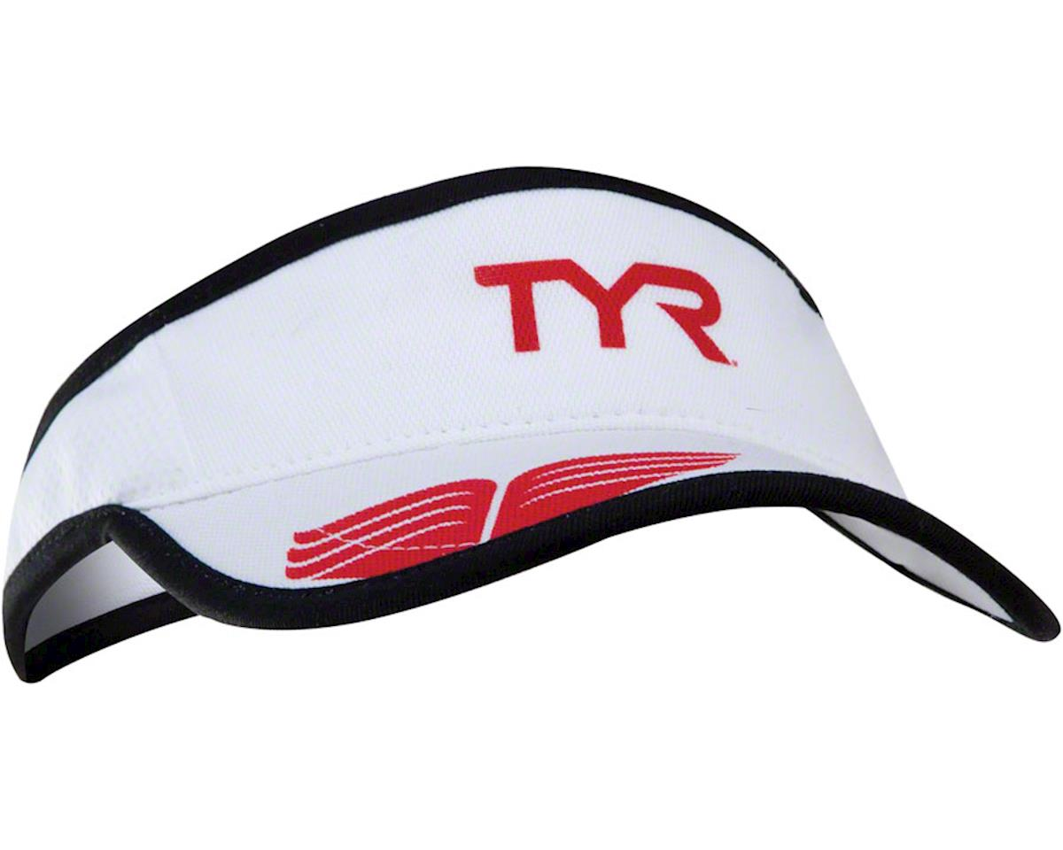 Tyr Competitor Running Visor (White/Red) (One Size)
