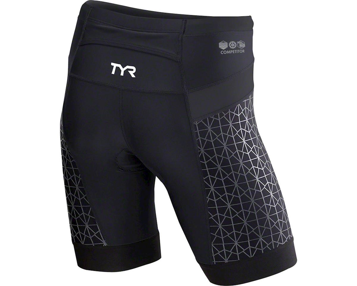 """TYR Competitor 9"""" Men's Short: Gray/Red XL (XS)"""