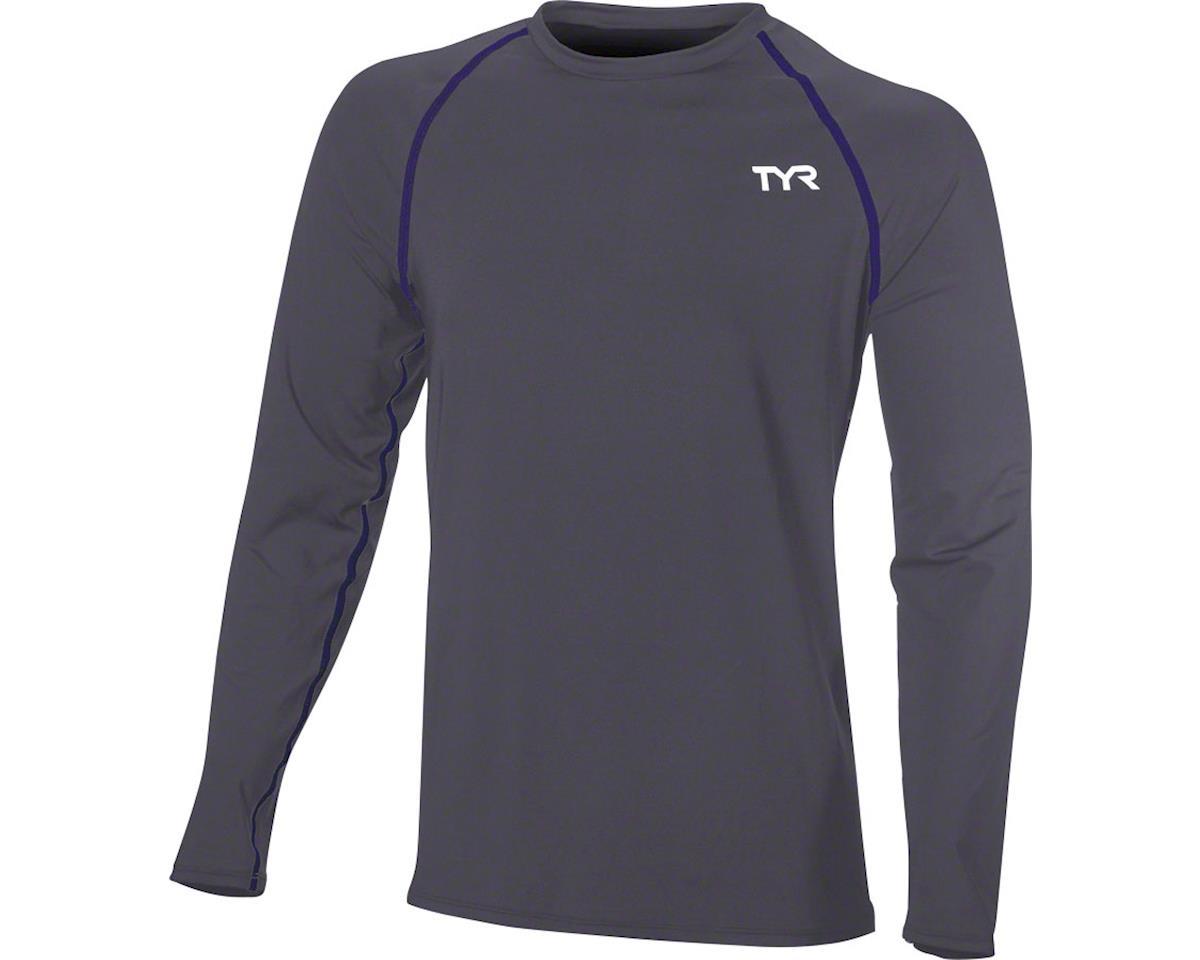 Tyr Long Sleeve Men's Rashguard: Gray XL (XL)