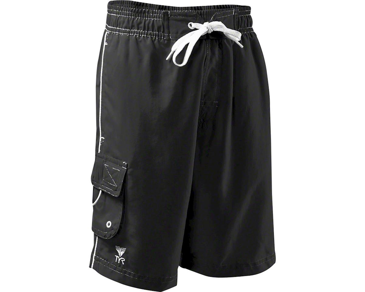 Tyr Challenger Men's Boardshort with Liner: Black, XL (M)